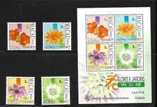 MACAO Scott  707 - 710 Flowers MNH F-VF