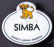 Disney Pin 4655 WDW Cast Member Exclusive Nametag Simba Lion King LE 3500 VHTF *