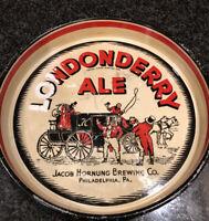Vintage Londonderry Ale Jacob Hornung Beer Tray Philadelphia Pa