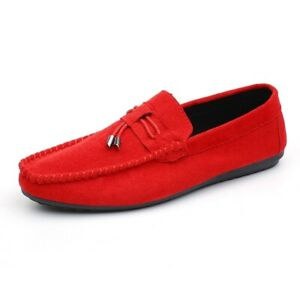 Mens Leisure Faux Leather Shoes Pumps Slip on Loafers Driving Moccasins Street B