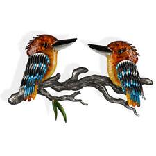 Pair of Kookaburras Metal Wall Art 55cm Australian Bird Metal Sculpture Garden