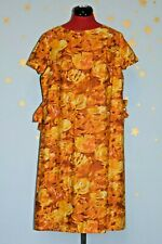 50s60s vintage  maternity great print orange cotton   dress