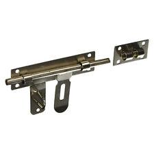"Stainless Steel Door Lock Latch Slide Barrel Bolt Clasp Set 10"" Length G7U7"