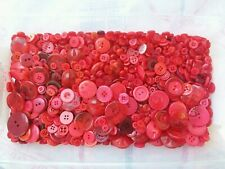 100 Red Sewing Buttons Free Shipping