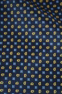 Vintage Folkespeare navy blue cravat with paisley pattern
