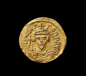 AV gold solidus Phocas / Focas, Constantinople 602-610 A.D. - sharply struck