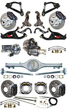 """NEW 2"""" DROP SUSPENSION & WILWOOD BRAKE SET,CURRIE REAR END,ARMS,POSI GEAR,687461"""