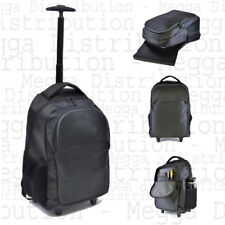 "Wheeled 2 in 1 Jacquard Executive 15.6"" Laptop Roller Case/Backpack/Hand Luggage"