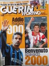 Guerin Sportivo n°51-52 1999 con maxi poster Montella Roma e Rui Costa [GS.52]