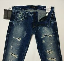 Replay Anbass Mens Jeans Black Power Slim Fit Distressed Rip W31 L32 New RRP£160