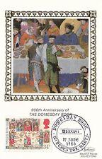 (93044) GB BENHAM FDC CARTOLINA Domesday Book vita Medievale WINCHESTER GIUGNO 1986