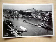 OLD REAL PHOTO-PC: AMSTERDAM~AMSTEL~CARRE THEATRE~ANIMATED~OLD SHIPS~VINTAGE CAR