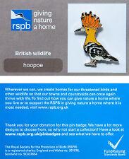RSPB Pin Badge | Hoopoe | GNaH backing card [00284]