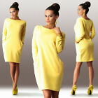 Women Ladies Bodycon Cocktail Party Mini Dress Long Sleeve Tunic Jumper Tops New