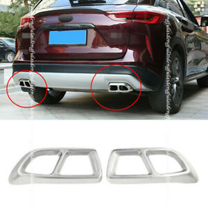 For infiniti QX50 2018-2021stainless Car Rear Tail Exhaust Muffler Tip Pipe Trim