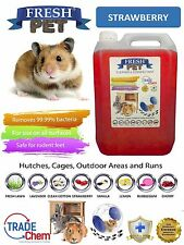 5L FRESH-PET STRAWBERRY - Rodent Specialist Disinfectant Rabbit Hutch Cage Runs