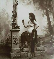 VECCHIA FOTO EROTICA  Del '900 ART PHOTO fotografia Nudo FEMMINILE DONNA 28 X 28