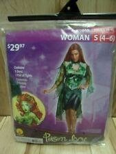 Womens Poison Ivy 2 Piece Costume Sz Small (4-6)