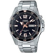 Casio Men's Quartz Rotating Bezel Silver-Tone Band 44mm Watch MTD1079D-1A3V