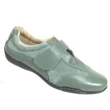 Dr Scholls Womens Sneakers 7.5 Driving Shoes Green Suede Leather Hook Loop SB529