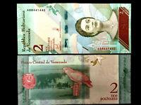 VENEZUELA 2 Bolivares Soberanos Year 2018 World Paper Money UNC Currency Bill