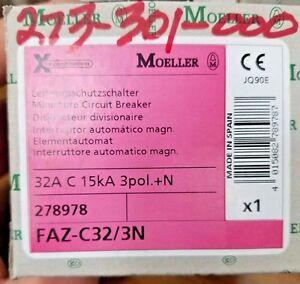 **NEW** Moeller FAZ-C32/3N Circuit Breaker (273-301-000)