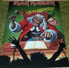 IRON MAIDEN Vintage Ten Years Poster in NEW CONDITION