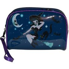 Kreepsville 666 Ladies Girls hex kitten Witch Make Up Bag By Miss Fluff Horror