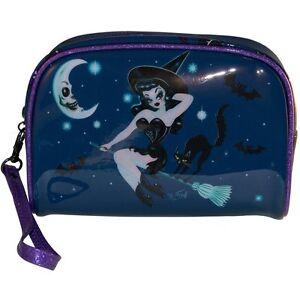 Kreepsville 666 Ladies Girls Hex Kitten Witch Make Up Bag By Miss Fluff Horror