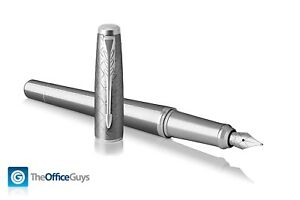Parker® Urban Premium Silvered Powder Chrome Trim Fountain Pen (1931603)