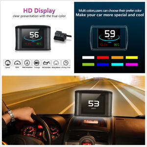 Car On-board OBD2 Driving Computer Display Speedometer Coolant Temperature Gauge