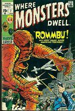 WHERE MONSTERS DWELL #7 (1971) Marvel Comics VG+