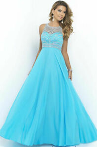 Lang kleider hellblau Elegante Abendkleider