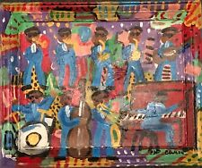 Chris Clark Original Jazz Band Contemporary Folk Outsider Art Painting