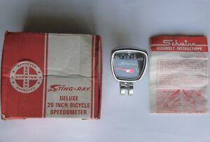 SCHWINN STINGRAY NOS SPEEDOMETER  #08 450 FRANCE w/ORIGINAL BOX & PAPERWORK