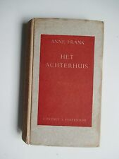 ANNE FRANK ACHTERHUIS Diary of a Young Girl 1st Edition 3rd Print Restoration