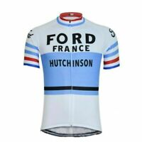 1965 Ford France Hutchinson Cycling Jersey Cycling Short Sleeve Jerseys