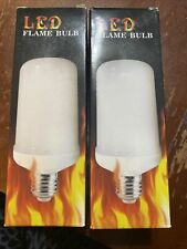 2 Pack Led Flame Effect Fire Light Bulb E27 Simulated Nature Flicker Lamp Decor