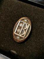 Vintage Balfour Service Award Pin in box 1/10 10k