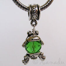 Green Frog Pendant Charm Bead All European Style Charm Bracelets And Necklaces