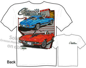 63-67 Corvette Tshirt 64 65 66 Stingray T shirt Chevy Vette Apparel 1963-1967