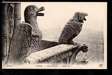 c1910 ND phot Chimeres sculpture Notre-Dame Cathedral Paris France postcard