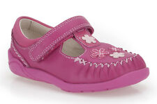 NEW CLARKS LITZY LOU FST GIRLS HOT PINK LEATHER SHOE - UK size 6.5E