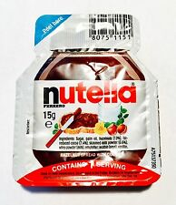 50 x Nutella Single Portion 15g  Individual Chocolate Spread sachet 15g