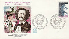 FRANCE FDC - 907 1823 3 BARBEY D'AUREVILLY 16 11 1974 - LUXE