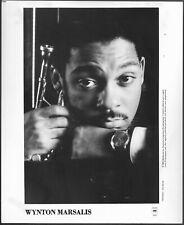 ~ Wynton Marsalis Jazz Trumpet Original 1990 Columbia Records Promo Photo