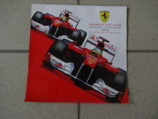 Calendrier officiel Ferrari 2012 Neuf F1 Formula 1 Limited edition poster inside