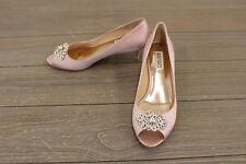 Badgley Mischka Layla MP3365 Kitten Heel Peep Toe Pump Womens Size 9, Blush