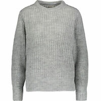 BARTOLINI Women's Chunky Knit Jumper, Light Grey, Made in Italy, size L