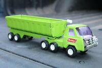 Buddy L Side Dump Truck & Trailer Transport Construction - Pressed Steel - Japan